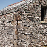 surveying the condition and state of repair of traditional field barns in the Yorkshire dales
